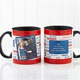 School Spirit Graduation Personalized Photo Coffee Mug 11oz.- Black - 12958-BP