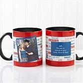 School Spirit Graduation Personalized Photo Coffee Mug 11oz.- Black - 12958-BP
