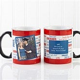 School Spirit Personalized Photo Mug-Black Handle - 12958-BP