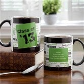 School Spirit Personalized Mug-Black Handle - 12958-B