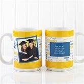 School Spirit Graduation Personalized Photo Mug 15 oz.- White - 12958-LP