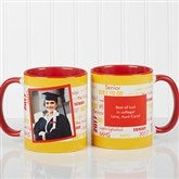 School Spirit Graduation Personalized Photo Coffee Mug 11oz.- Red - 12958-R