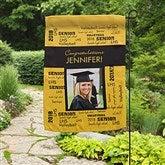 School Spirit Personalized Photo Garden Flag - 12960