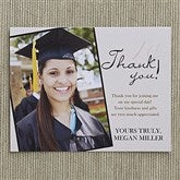 Refined Graduate Custom Thank You Cards - 12963