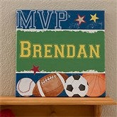 Ready, Set, Score Personalized Canvas Art - Name - 12971