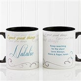 Cup Of Inspiration Personalized Coffee Mug 11oz.- Black - 12972-B