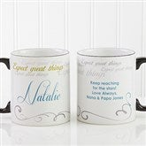 Cup Of Inspiration  Personalized Mug- 15 oz. - 12972-L