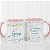 Cup Of Inspiration Personalized Coffee Mug 11oz.- Pink - 12972-P