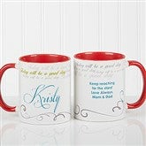 Cup Of Inspiration Personalized Coffee Mug 11oz.- Red - 12972-R