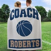 Coach's 15 Sports Personalized Sweatshirt Blanket - 12974