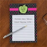 Teacher's Green Apple Personalized Notepad - 12978