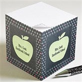 Teacher's Green Apple Personalized Note Cube - 12979