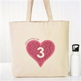 Mommy Of... Personalized Canvas Tote - 12986