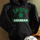 Irish Pride Black Personalized Youth Hooded Sweatshirt - 13008-BYHS