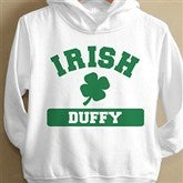 Irish Pride White Personalized Toddler Hooded Sweatshirt - 13008-THS