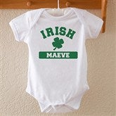 Irish Pride White Personalized Baby Bodysuit - 13008-BB