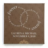 Forever & Ever Personalized Canvas Print 24