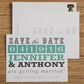 Lucky In Love Personalized Save The Date Cards - 13018-C