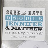 Lucky In Love Personalized Save The Date Magnets - 13018-M