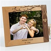 Carved In Love Personalized Picture Frame- 8 x 10 - 13026-L