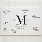 Wedding Signature Personalized Canvas Print 12