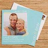 Tying The Knot Personalized Photo Save The Date Cards - 13043-C