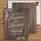 Wood Carving Personalized Save The Date Cards - 13045-C