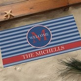 Anchors Aweigh! Personalized Doormats-Oversized - 13048-O