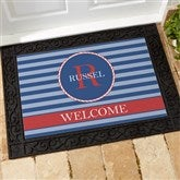 Anchors Aweigh! Personalized Recycled Rubber Back Doormat - 13048-S