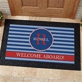 Anchors Aweigh! Personalized Doormat- 20x35 - 13048-M