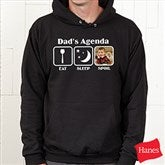 His Agenda Personalized Black Hooded Sweatshirt - 13053-BS