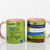 Reasons Why Personalized Coffee Mug 11 oz.- Pink - 13061-P