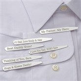 For Dad Personalized Collar Stays Set of 3