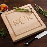 Maple Leaf Personalized Square Cutting Board-No Handles - 13072D-NH
