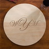 Maple Leaf Raised Monogram Lazy Susan - 13073D-R