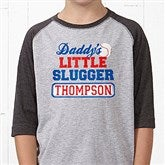 Lil' Slugger Personalized Grey Youth Baseball T-Shirt - 13074-BYT