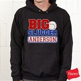 Big Slugger Personalized Black Adult Sweatshirt - 13074-ABS