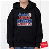 Lil' Slugger Personalized Black Youth Sweatshirt - 13074-YBS