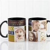 Photo Fun For Him Personalized Black Handle Mug- 11oz. - 13075-B