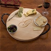 Maple Leaf Personalized Serving Tray with Handles - 13079D