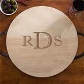 Maple Leaf Raised Monogram Server with Handles - 13079D-R