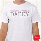 Daddy Personalized Adult Tee - 13080-AT
