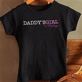 Daddy's Girl Personalized Youth Fitted Tee - 13080-FT