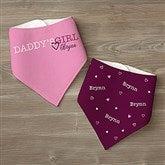 Daddy's Girl Personalized Bandana Bibs- Set of 2 - 13080-BB