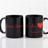 The Heart of Caring Personalized Coffee Mug 11oz.- Black - 13099-B