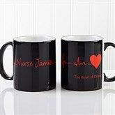 The Heart of Caring Personalized Coffee Mug 11oz.- Black - 13099-B