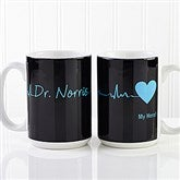 The Heart of Caring Personalized Coffee Mug 15oz.- White - 13099-L