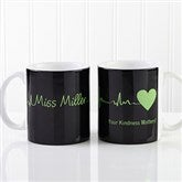 The Heart of Caring Personalized Coffee Mug 11oz.- White - 13099-S