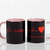 The Heart of Caring Personalized Coffee Mug 11oz.- Pink - 13099-P