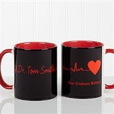The Heart of Caring Personalized Coffee Mug 11oz.- Red - 13099-R
